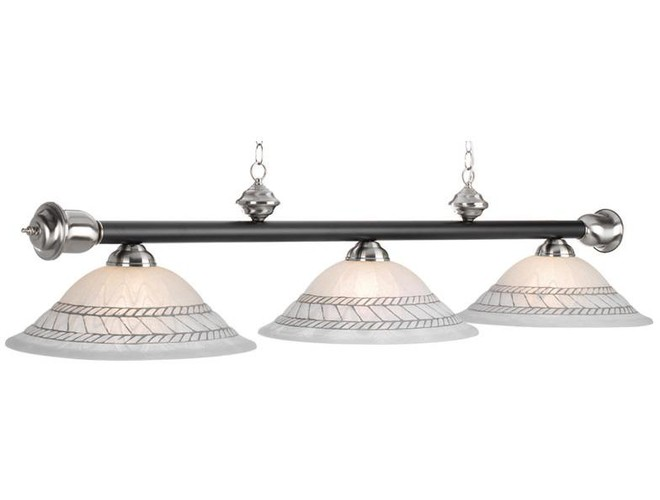 Awesome Ram Gameroom Products Corda Pool Table Light. Old Brown With Brown Trim.  Matte Black With Chrome