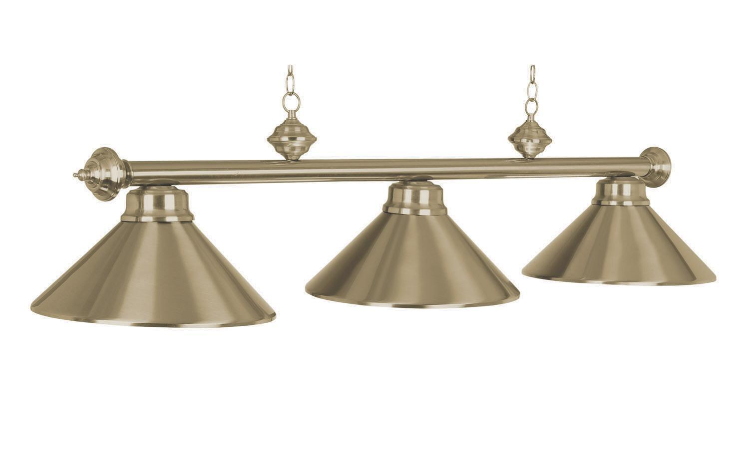 3 lamp bars billiard room lighting