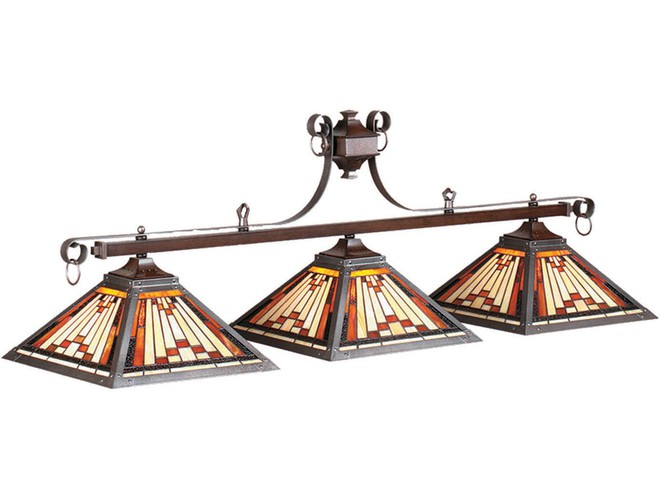 Ceiling Fan Light For Pool Table : Ram gameroom products laredo pool table light