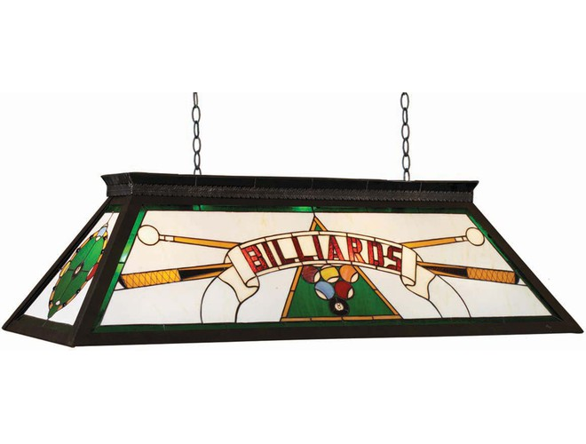 Pool Table Lights Red Accents Green