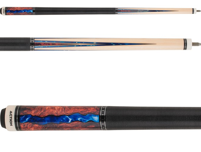 Players HXTE8 Billiard Pool Cue PureX Technology 12.75mm Tip Natural Birdseye Maple Forearm and Cocobolo Butt with Black /& Mother-of-Pearl Graphic Overlay 19-Ounce